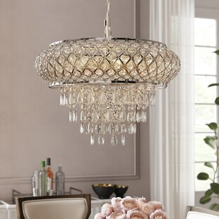 Hoang Tiered 5-Light Crystal Chandelier b..