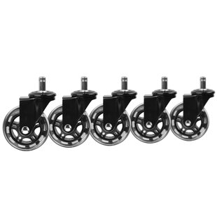 Affordable Rollerblade Office Chair Casters (Set of 5) by Slipstick