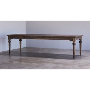 Linette Solid Wood Dining Table Charlton Home