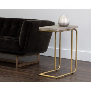 Solterra C-Shaped End Table by Sunpan Modern
