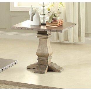 Gracie Oaks Etta Wood/Metal End Table