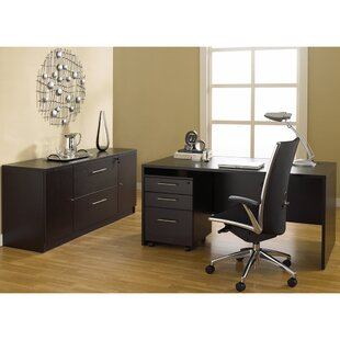 Latitude Run Buragate Desk and Filing Cabinet Set