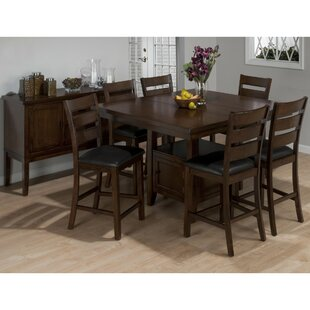 Anton Wooden 7 Piece Pub Table..