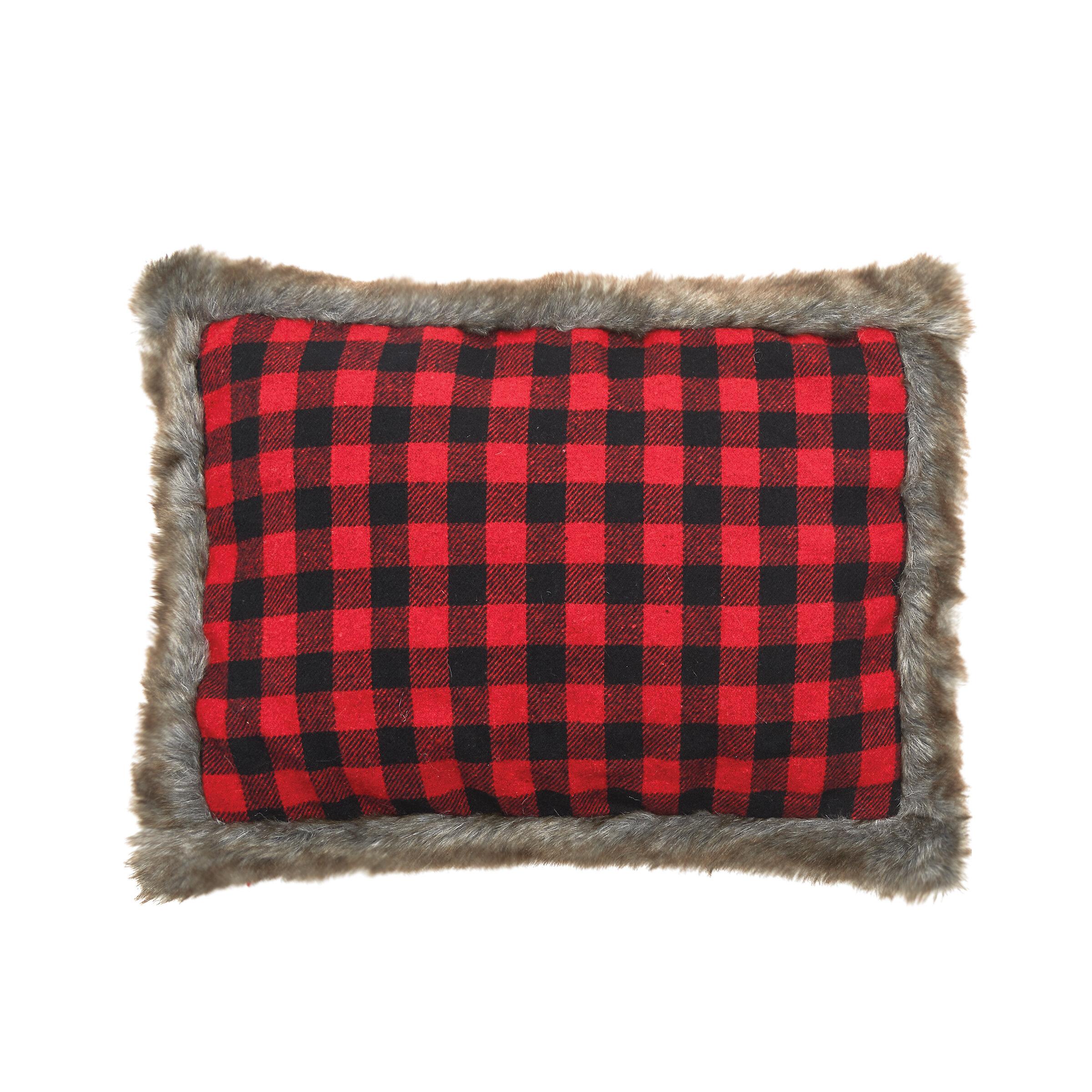 Red Buffalo Check Pillows   Wayfair