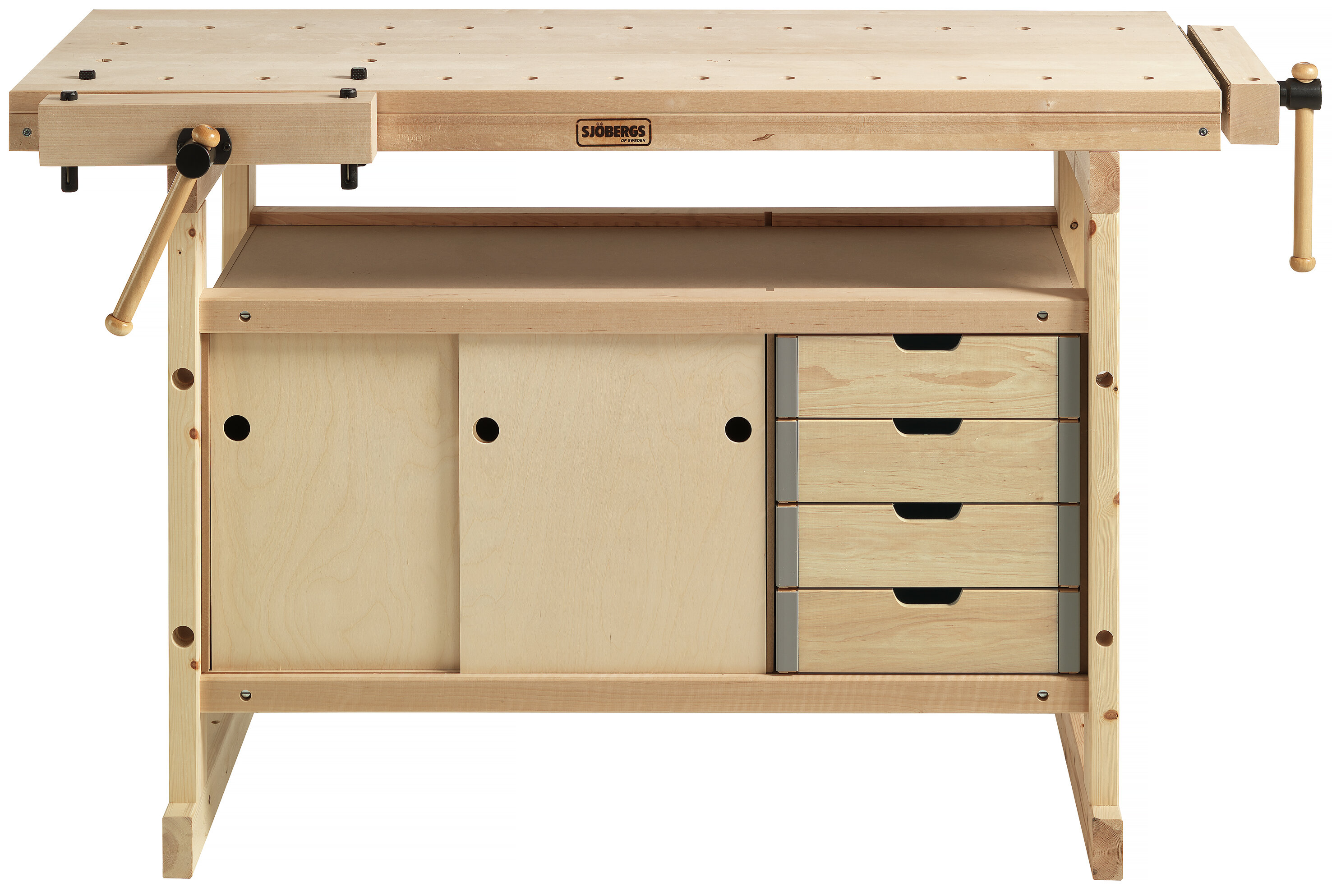 Superb Latrell 57W Wood Top Workbench With Cabinet And Accessory Kit Spiritservingveterans Wood Chair Design Ideas Spiritservingveteransorg