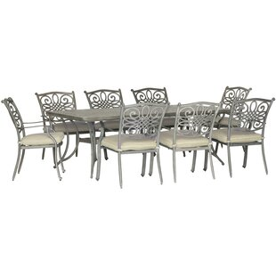 Burchfield Traditions 9 Piece Dining Set with Cushions