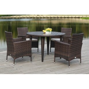 Mcgrady 5 Piece Dining Set with Cushions by Brayden Studio