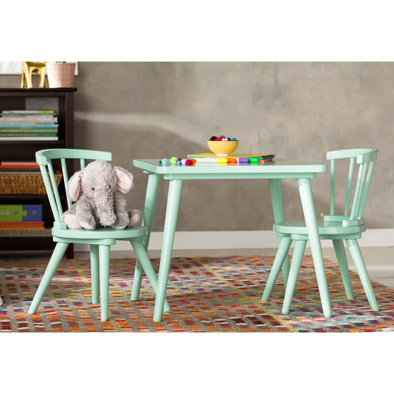 Justine Windsor 3 Piece Table and Chair Set by Delta & Reviews ...