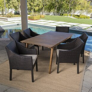Ivy Bronx Geren Outdoor 7 Piece Dining Set with Cushions