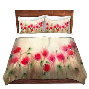 DiaNoche Designs Field of Poppies Duvet Cover Set