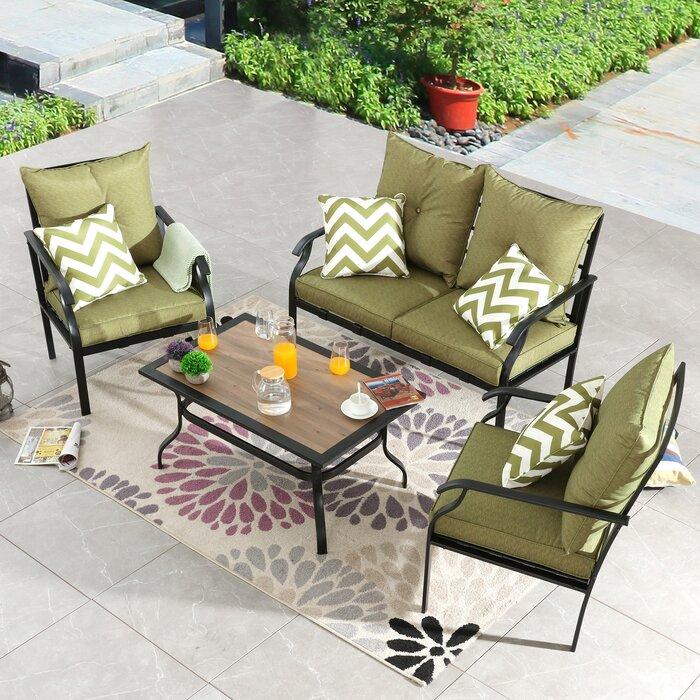 metal patio conversation set