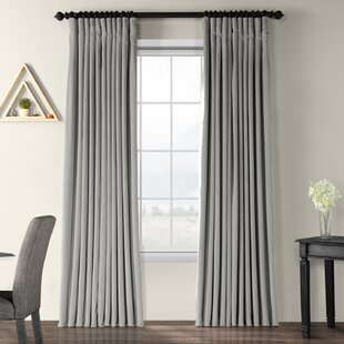 Rhinehart Solid Max Blackout Thermal Tab Top Single Curtain Panel by Darby Home Co