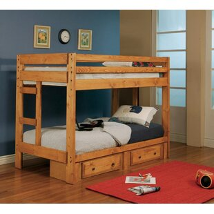 Waite Twin Over Twin Bunk Bed with Drawers