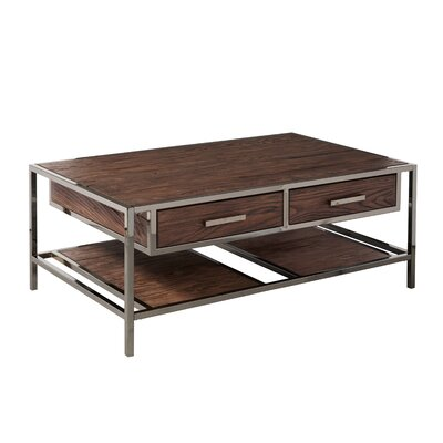 Falkner Modern Industrial Style Coffee Table with Storage by Brayden Studio