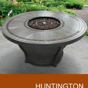 Huntington Aluminum Propane/ Natural Gas Fire Pit Table