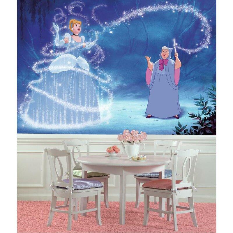 Room Mates Disney Princess Cinderella Magic Chair Rail Prepasted