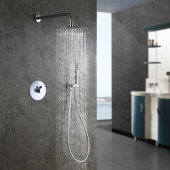 Fontanashowers Milan Stainless Steel Jetted Body Massage Led Thermostatic Complete Shower System With Rough In Valve Wayfair
