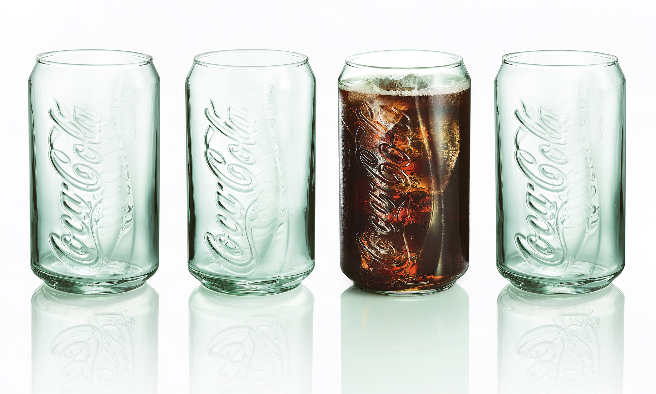 Luminarc Coke Coca Cola Can Georgia 12 Oz Drinking Glass Reviews Wayfair