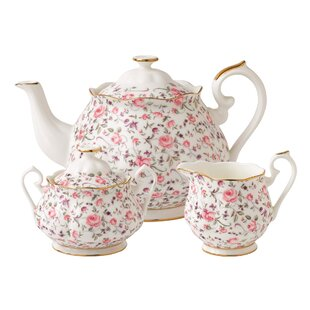 Rose Confetti 3 Piece Teapot Set
