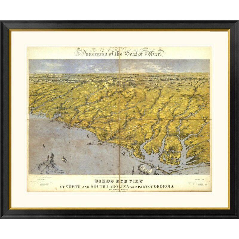 Global Gallery North And South Carolina And Part Of Georgia 1861 By John Bachmann Framed Graphic Art Wayfair