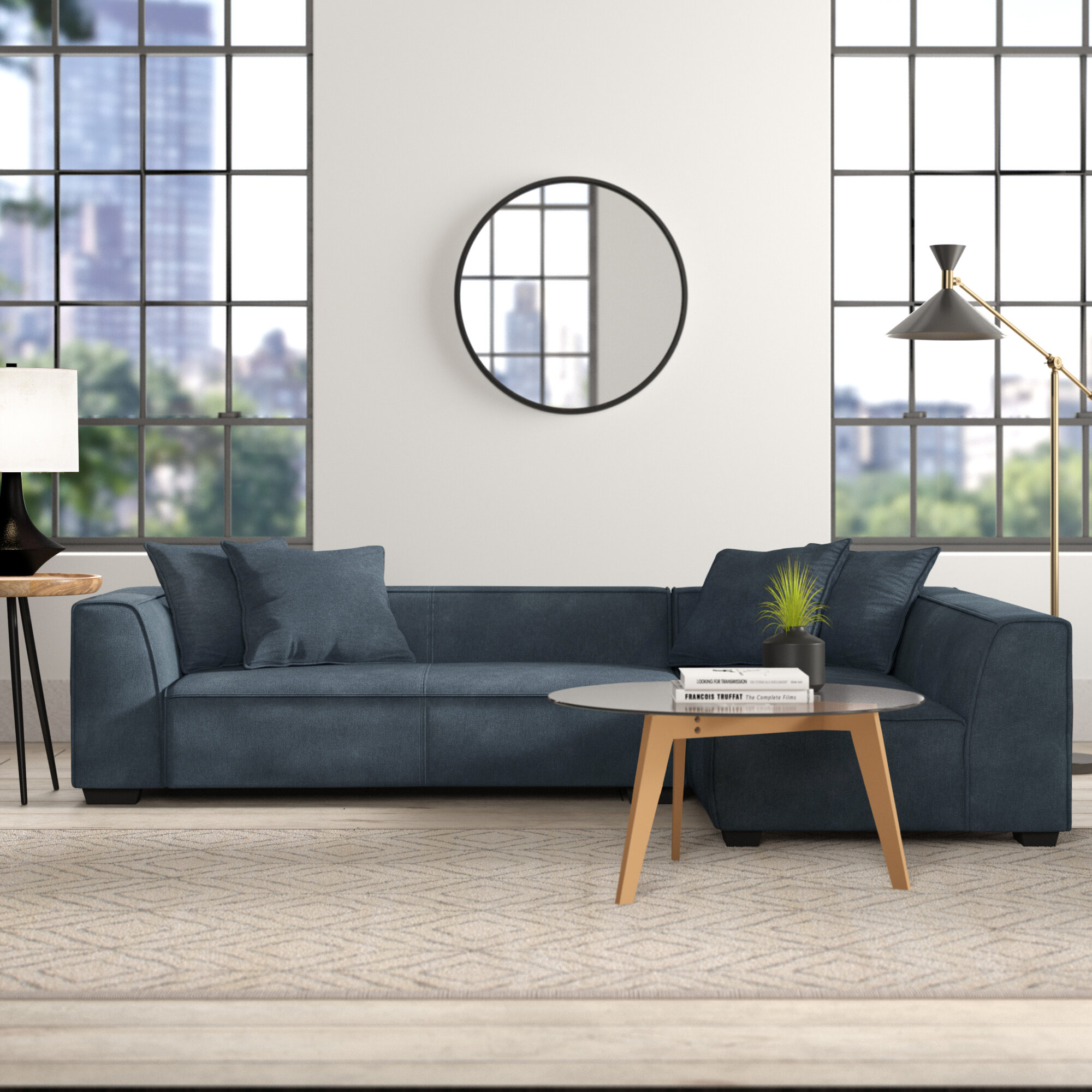 Picture of: Dusty Grey Nolany Reversible Sectional Sofa Couch For Small Apartment L Shape Sofa Couch 3 Seat Sectional Corner Couch Bspsss6no2 Edu In