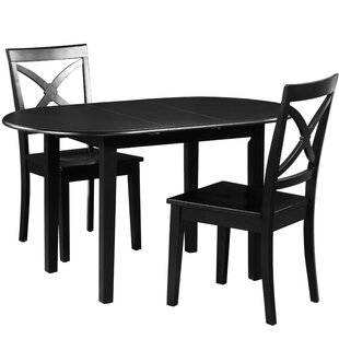 Spillers 3 Piece Extendable Solid Wood Dining Set