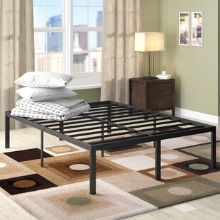 Latitude Run Yetter Steel Slat Bed Frame