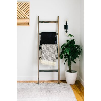 Foundry Select 6 ft Blanket Ladder Finish: Carbon Gray