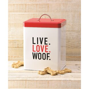 Live Love Woof 6.5 qt Pet Treat Jar