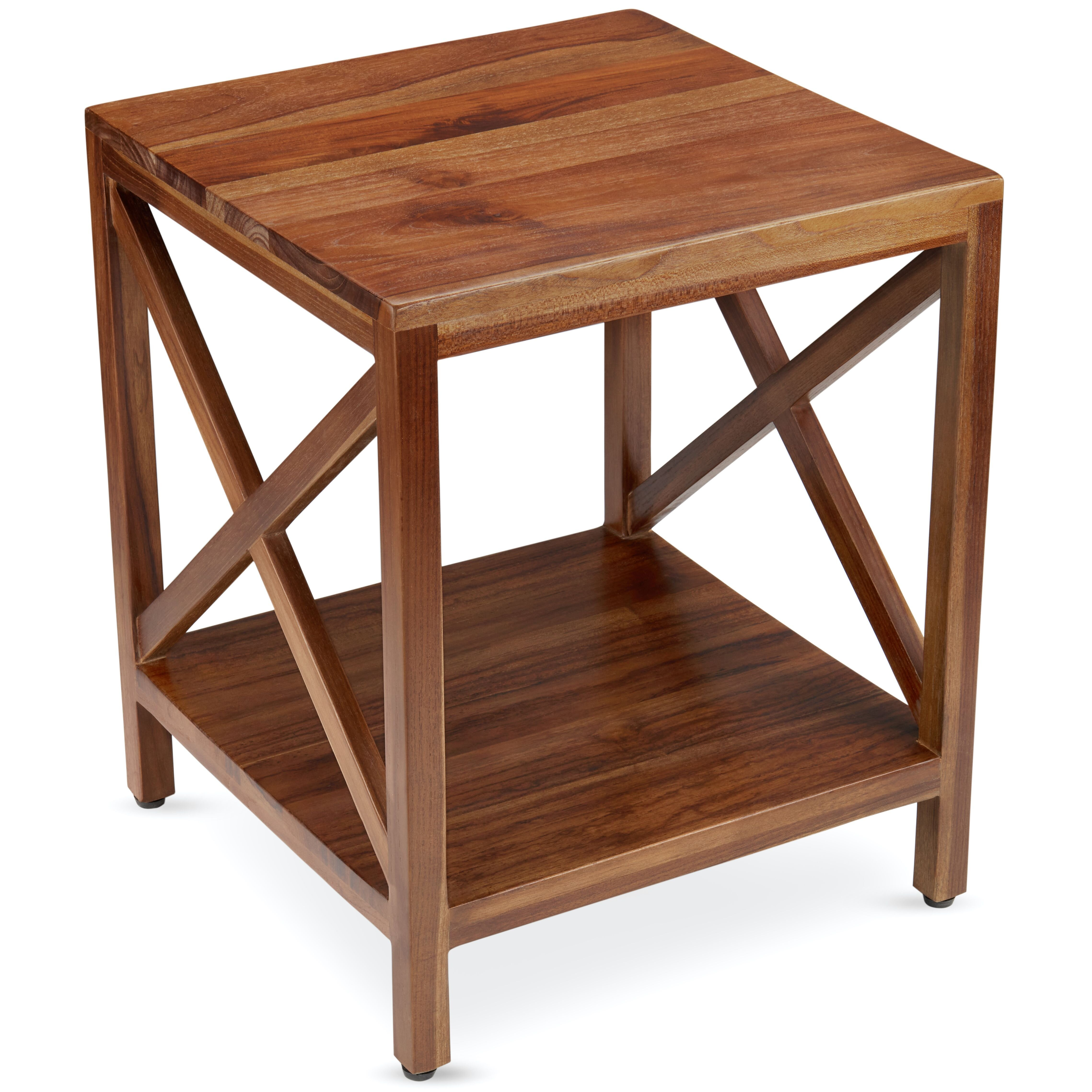 Longshore Tides Emerico Solid Wood End Table Set With Storage Wayfair