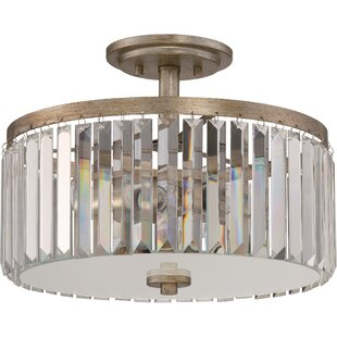 House of Hampton Hudson 3-Light Semi Flush Mount