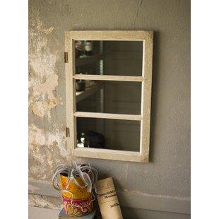 Gatlin Wooden Cabinet Door Accent Mirror by August Grove