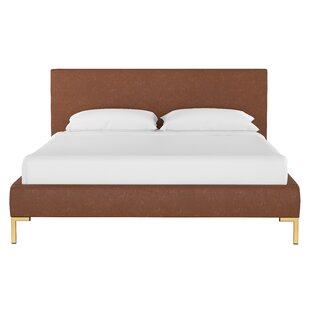 Chesterle Faux Leather Upholstered Platform Bed by Everly Quinn