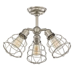 Evergreen 3-Light Semi Flush M..