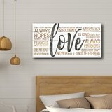 'Love' - Wrapped Canvas Textual Art Print by East Urban Home