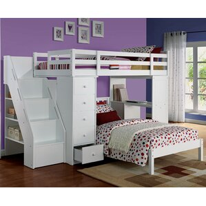 Freya Loft Bed with Booksh..