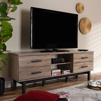 Foundry Select Higgin Solid Wood Tv Stand For Tvs Up To 50 Wayfair