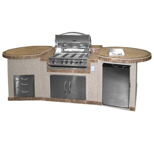 4-Burner Built In Propane Gas Grill with Cabinet by Cal Flame