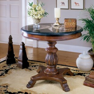 Hobson Stone Inlay End Table by Astoria G..