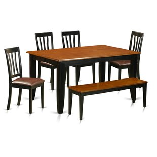 Parfait 6 Piece Extendable Dining Set Wooden Importers