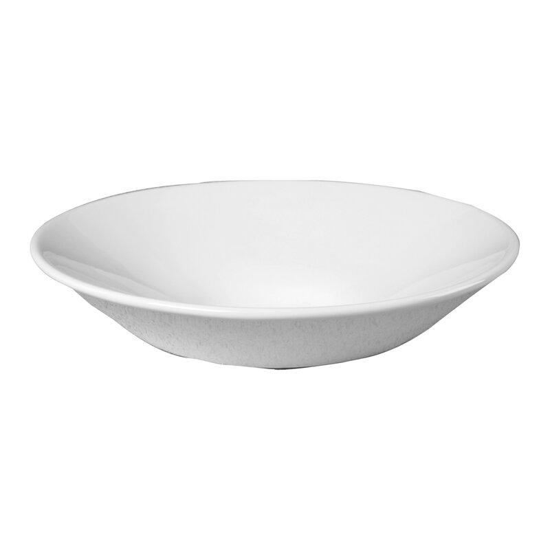Barclay White Vitreous China Oval Vessel Bathroom Sink