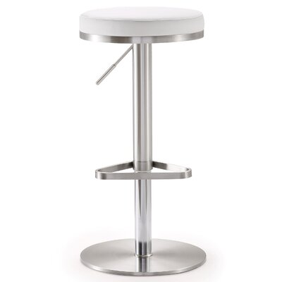 Stupendous Wade Logan Heitor Adjustable Height Swivel Bar Stool Pdpeps Interior Chair Design Pdpepsorg