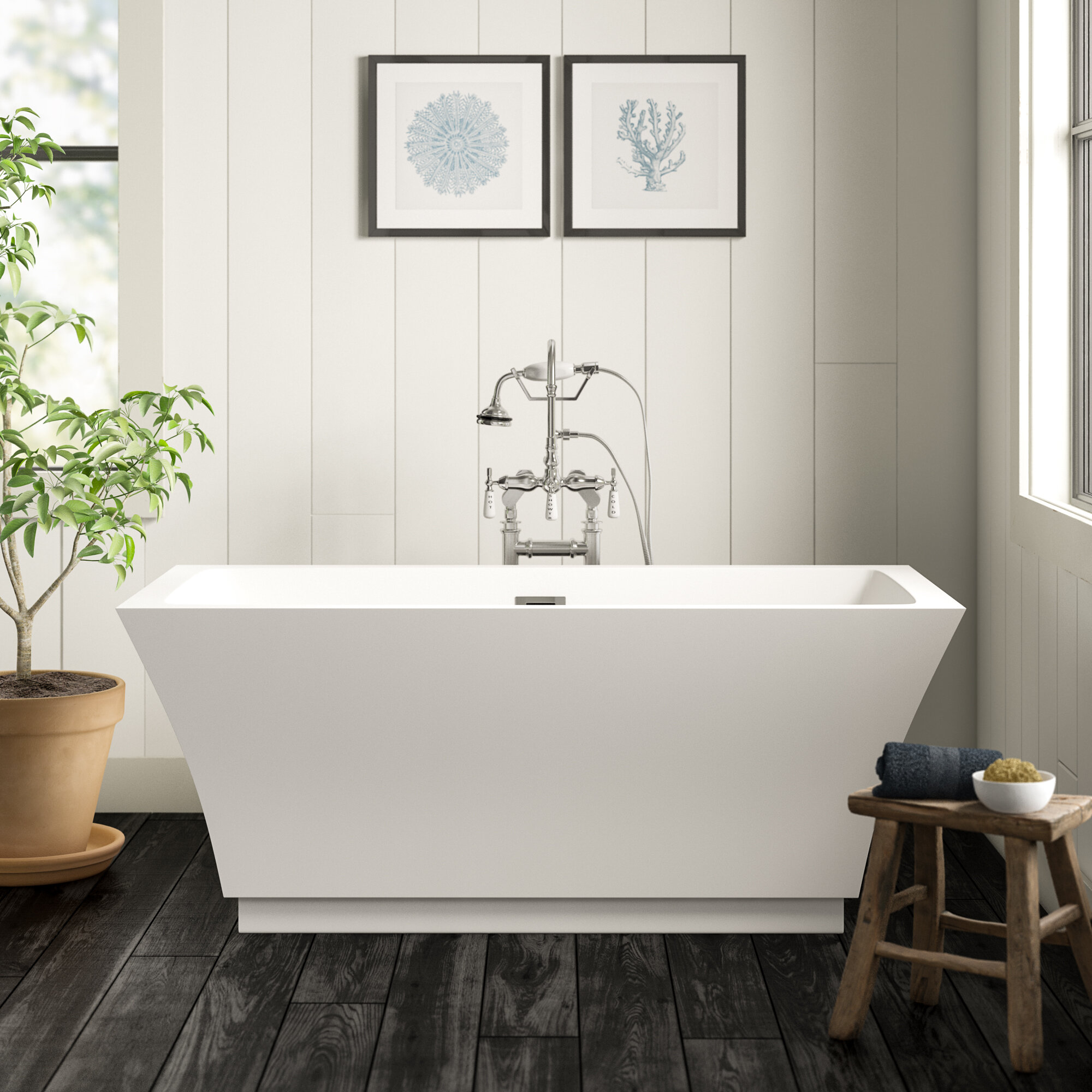 Birch Lane Anatoli 59 X 30 Freestanding Soaking Bathtub Reviews Wayfair