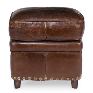 Papa's Leather Ottoman by Sarreid Ltd