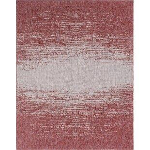 Beedeville Red/Gray Indoor/Outdoor Area Rug