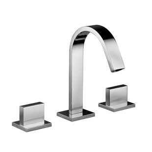 WS Bath Collections Lever Widespread Bathroom Faucet with Push Handle