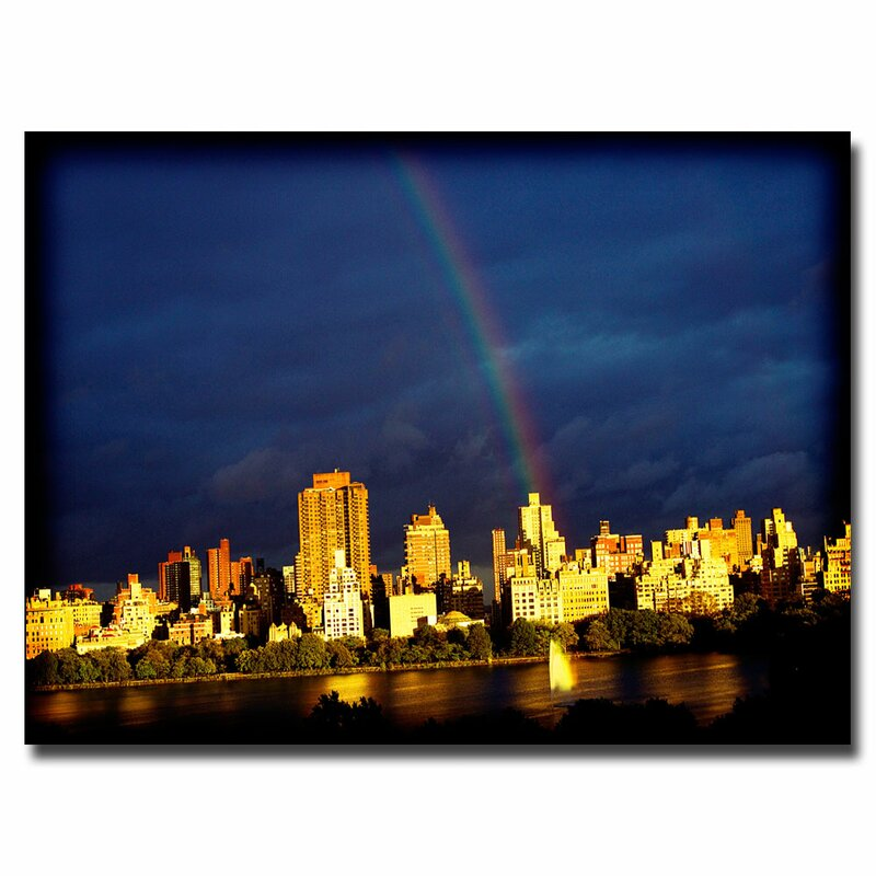 Trademark Art City Rainbow By Ariane Moshayedi Photographic Print On Wrapped Canvas Wayfair