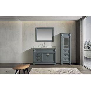 Lusk 48 Single Bathroom Vanity Set with Mirror By Rosecliff Heights