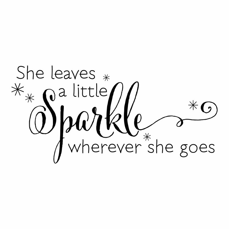 Sparkle Quotes | Belvedere Designs Llc She Leaves A Sparkle Wall Quotes Decal