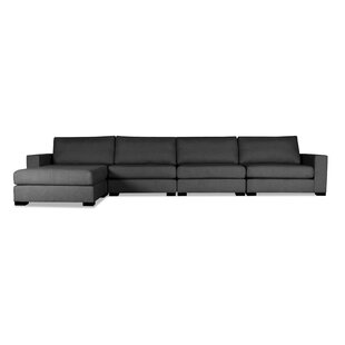 Brayden Studio Brose Plush Deep Modular Sectional with Ottoman